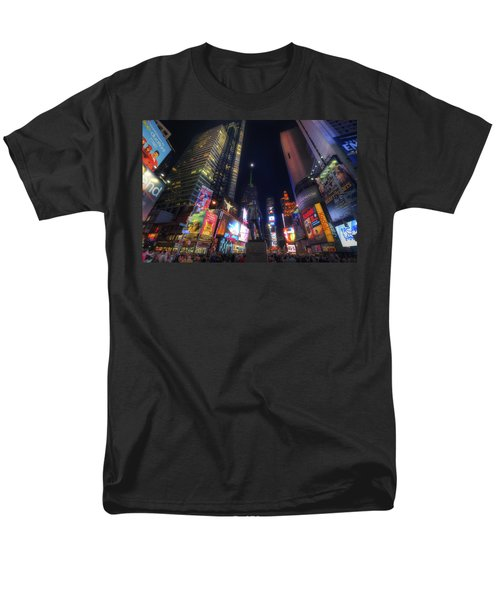 Times Square Moonlight Men's T-Shirt  (Regular Fit) by Yhun Suarez