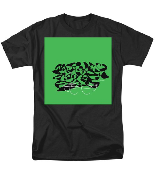 Men's T-Shirt  (Regular Fit) featuring the digital art Timpani In Green by Jazz DaBri