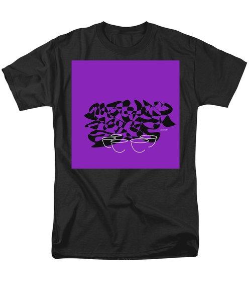 Timpani In Purple Men's T-Shirt  (Regular Fit) by David Bridburg