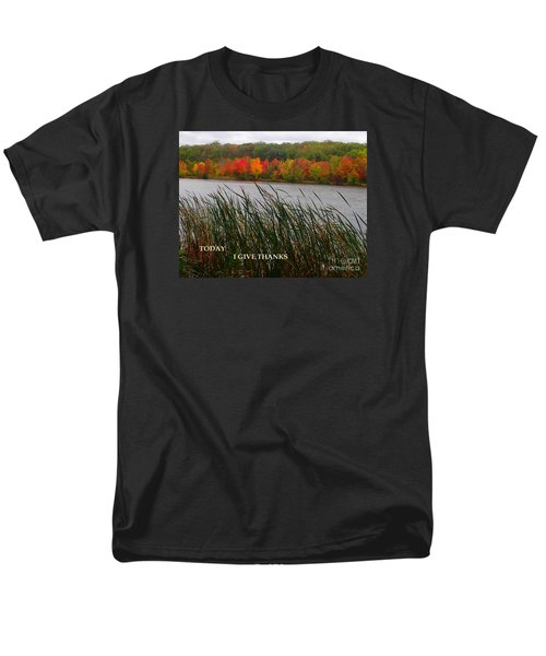 Today I Give Thanks Men's T-Shirt  (Regular Fit) by Christina Verdgeline
