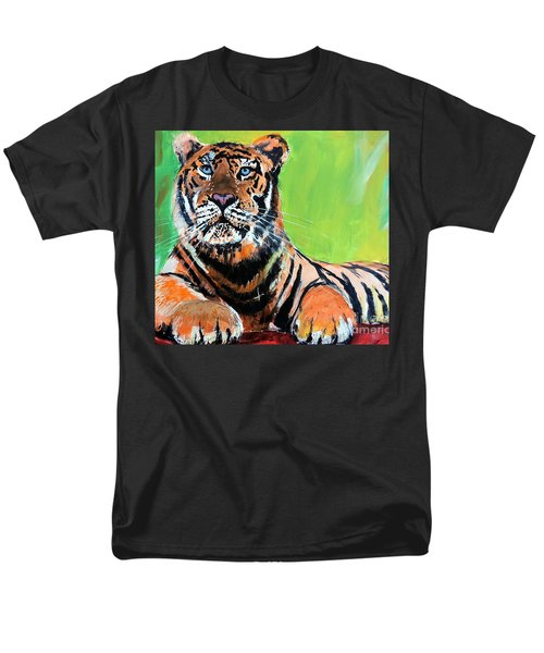 Men's T-Shirt  (Regular Fit) featuring the painting Tom Tiger by Tom Riggs