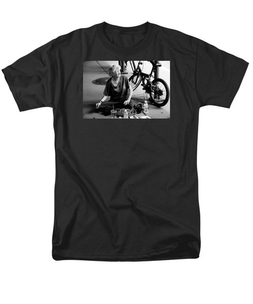 Men's T-Shirt  (Regular Fit) featuring the photograph Too Much Homelessness by Monte Stevens