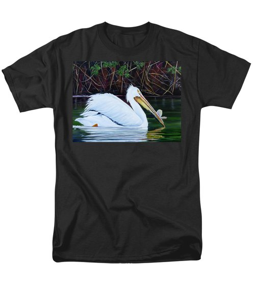 Touring Pelican Men's T-Shirt  (Regular Fit) by Marilyn McNish