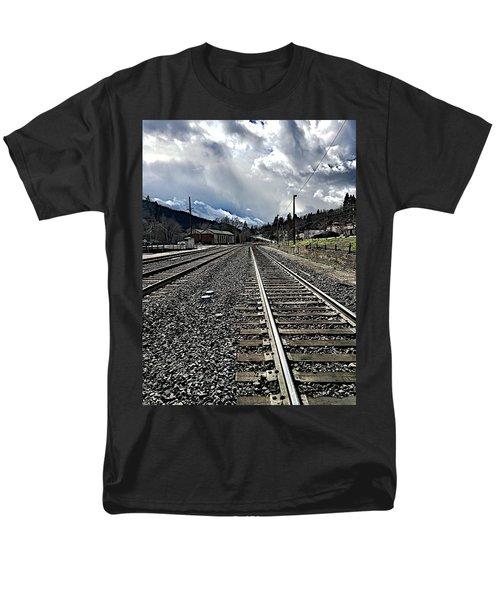 Tracks Men's T-Shirt  (Regular Fit) by JoAnn Lense