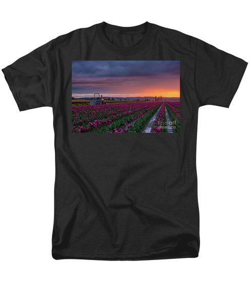 Men's T-Shirt  (Regular Fit) featuring the photograph Tractor Waits For Morning by Mike Reid