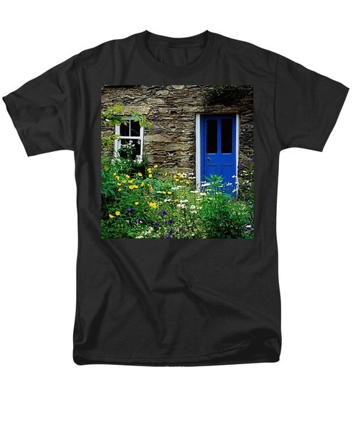 Traditional Cottage, Co Cork Men's T-Shirt  (Regular Fit) by The Irish Image Collection