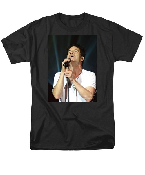 Train's Pat Monahan Men's T-Shirt  (Regular Fit) by Cindy Manero