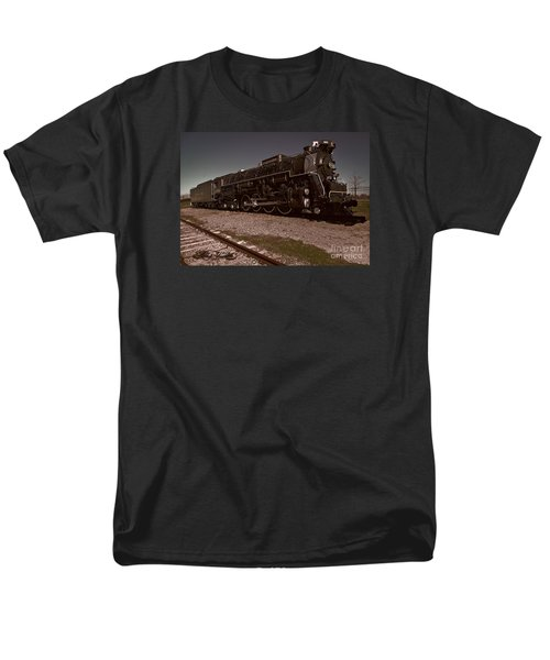 Men's T-Shirt  (Regular Fit) featuring the photograph Train Engine # 2732 by Melissa Messick