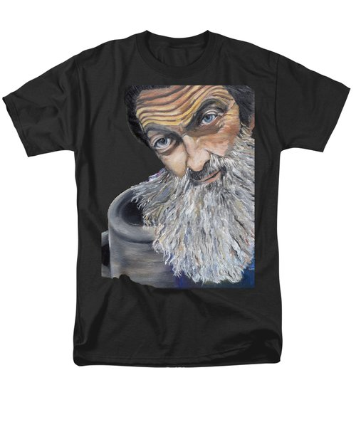 Popcorn Sutton Shines With Transparent Background -for T-shirts And Other Fabric Items- Moonshine Men's T-Shirt  (Regular Fit)
