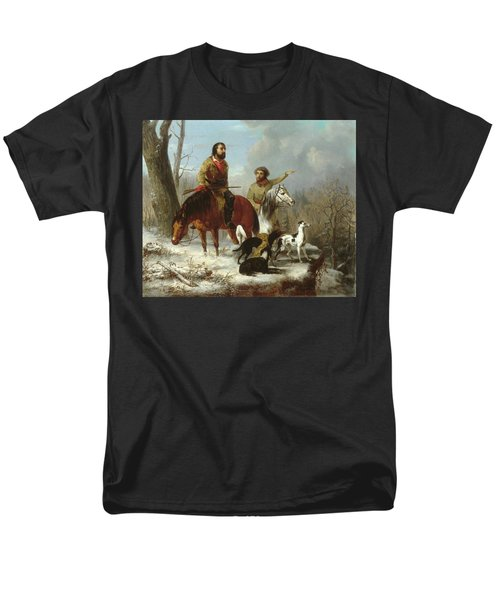 Men's T-Shirt  (Regular Fit) featuring the painting Trappers             by Trego and Williams