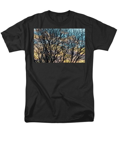 Men's T-Shirt  (Regular Fit) featuring the photograph Tree Branches And Colorful Clouds by James BO Insogna