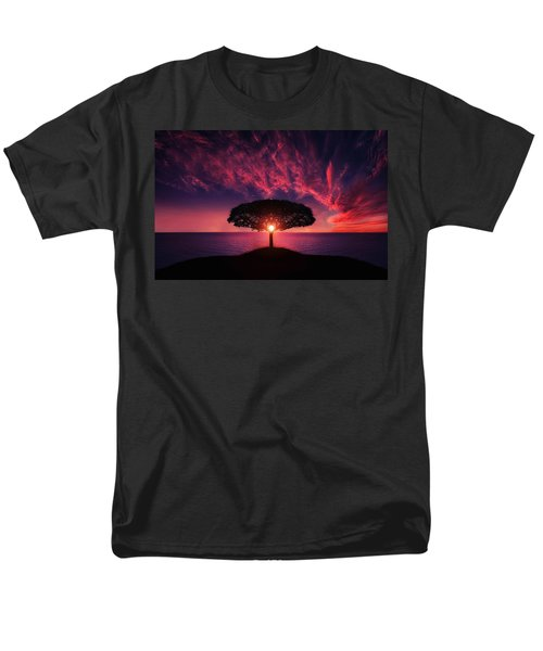 Tree In Sunset Men's T-Shirt  (Regular Fit) by Bess Hamiti