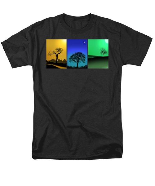Tree Triptych Men's T-Shirt  (Regular Fit) by Mark Rogan