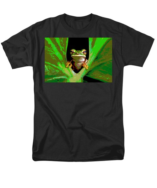 Men's T-Shirt  (Regular Fit) featuring the mixed media Treefrog by Charles Shoup