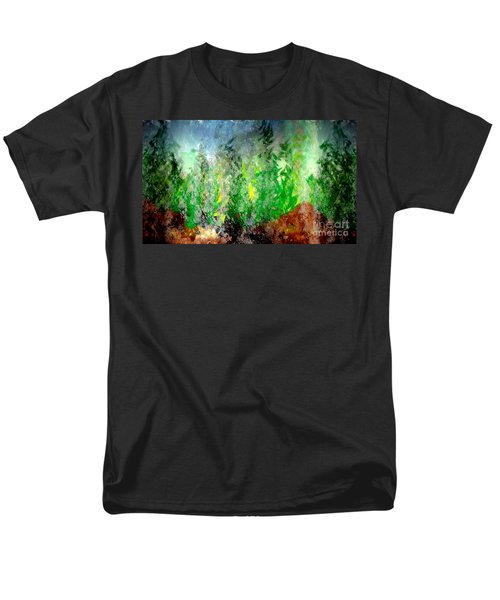 Men's T-Shirt  (Regular Fit) featuring the painting Trees 4 by John Krakora