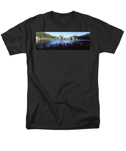 Trees Around The Lake, Sylvan Lake Men's T-Shirt  (Regular Fit) by Panoramic Images