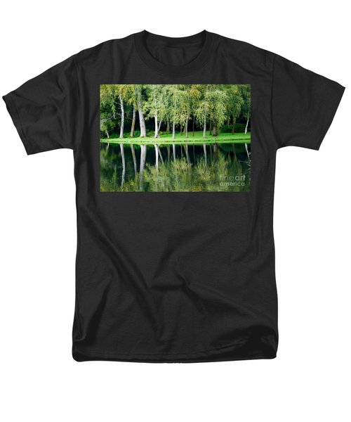 Trees Reflected In Water Men's T-Shirt  (Regular Fit) by Colin Rayner