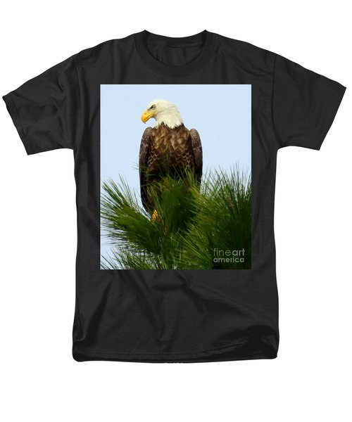 Men's T-Shirt  (Regular Fit) featuring the photograph Treetop Eagle by Myrna Bradshaw