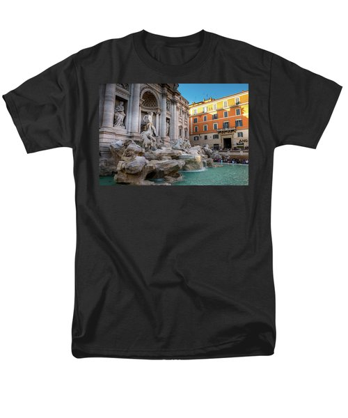 Trevi Fountain Men's T-Shirt  (Regular Fit) by Fink Andreas