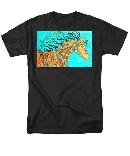 Tribal Carnival Spirit Horse Men's T-Shirt  (Regular Fit) by Susie WEBER