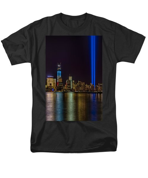 Tribute In Lights Memorial Men's T-Shirt  (Regular Fit) by Susan Candelario