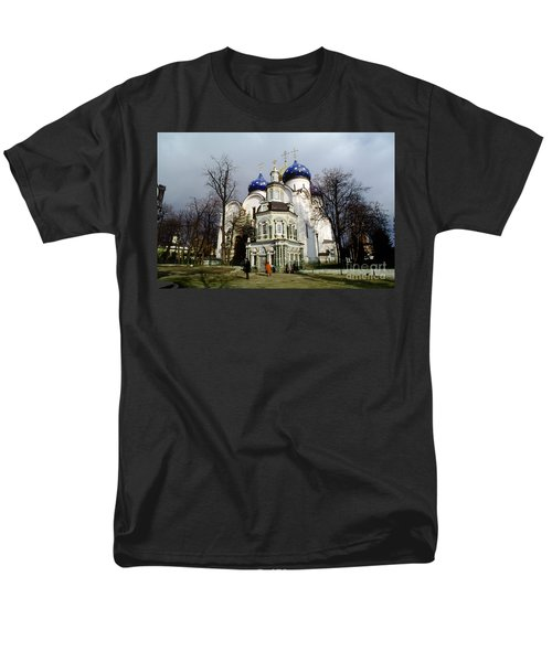 Trinity Lavra Of St. Sergius Russian Orthodox Churchsergiev Posad Men's T-Shirt  (Regular Fit) by Wernher Krutein