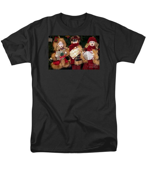 Men's T-Shirt  (Regular Fit) featuring the photograph Trio Of Carolers by Vinnie Oakes