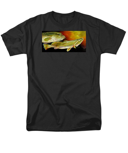 Triple Trout Men's T-Shirt  (Regular Fit) by Phyllis Beiser