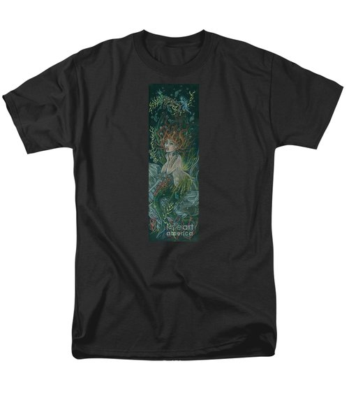 Men's T-Shirt  (Regular Fit) featuring the drawing Triumph Escapes Maximilian's Arch by Dawn Fairies