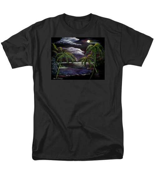 Tropical Moonlight Men's T-Shirt  (Regular Fit) by Luis F Rodriguez