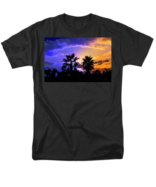 Men's T-Shirt  (Regular Fit) featuring the photograph Tropical Nightfall by Francesa Miller