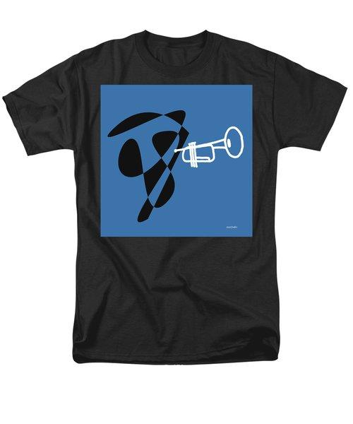 Trumpet In Blue Men's T-Shirt  (Regular Fit) by David Bridburg