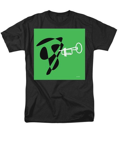 Trumpet In Green Men's T-Shirt  (Regular Fit) by David Bridburg