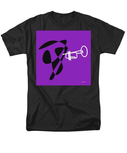 Trumpet In Purple Men's T-Shirt  (Regular Fit) by David Bridburg