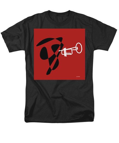 Trumpet In Orange Red Men's T-Shirt  (Regular Fit) by David Bridburg