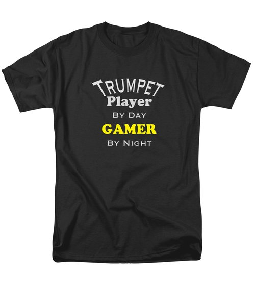 Trumpet Player By Day Gamer By Night 5629.02 Men's T-Shirt  (Regular Fit)