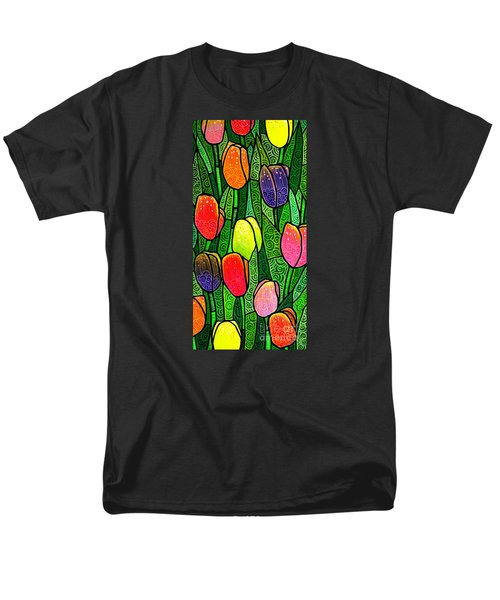 Men's T-Shirt  (Regular Fit) featuring the painting Tulip Glory by Jim Harris