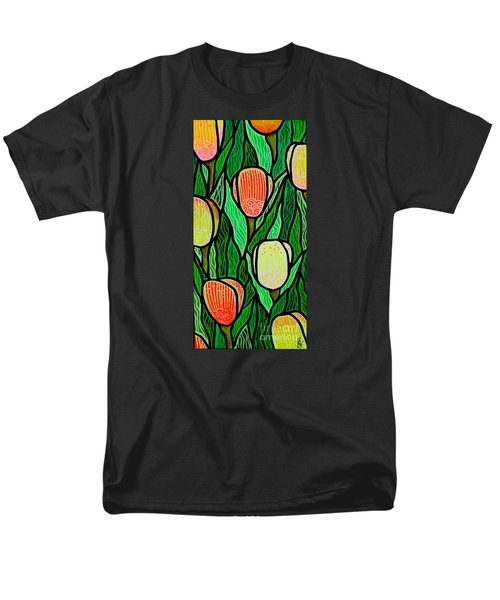 Men's T-Shirt  (Regular Fit) featuring the painting Tulip Joy 2 by Jim Harris