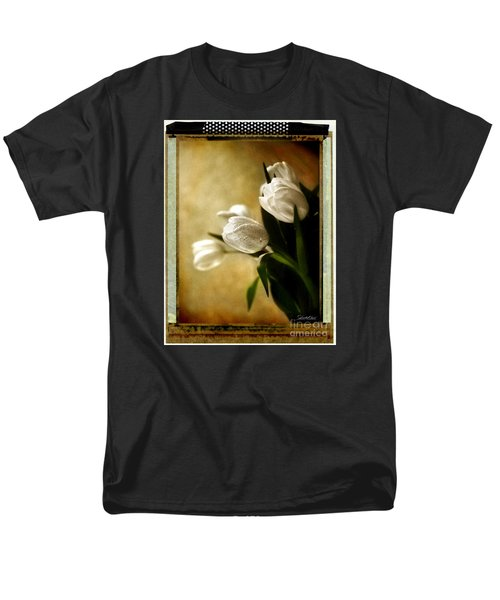 Tulip Side Sepia Men's T-Shirt  (Regular Fit)