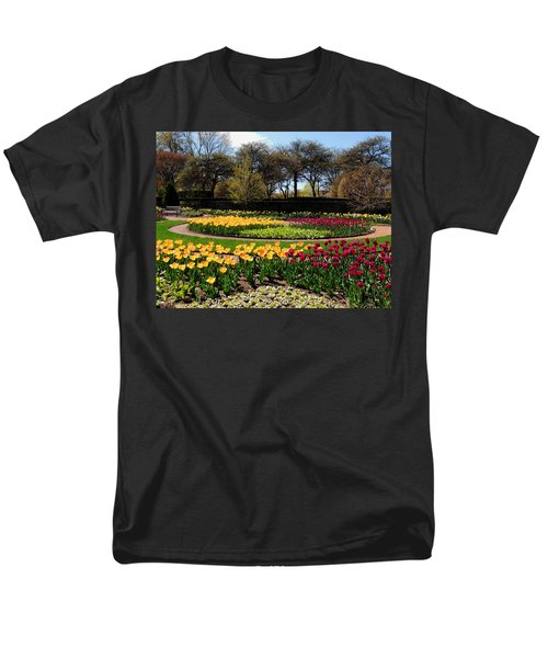Men's T-Shirt  (Regular Fit) featuring the photograph Tulips In The Spring by Teresa Schomig