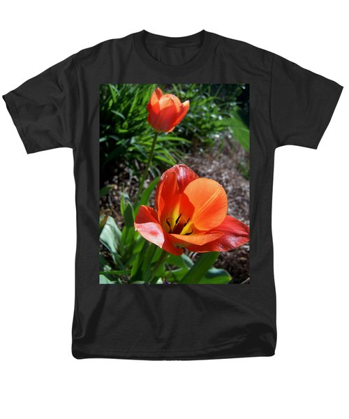 Men's T-Shirt  (Regular Fit) featuring the photograph Tulips Wearing Orange by Sandi OReilly
