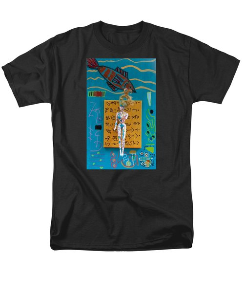 Men's T-Shirt  (Regular Fit) featuring the painting Turmeric Herbal Tincture by Clarity Artists