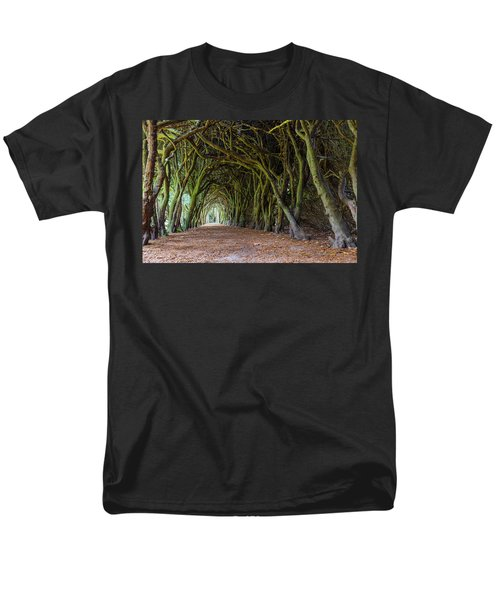 Men's T-Shirt  (Regular Fit) featuring the photograph Tunnel Of Intertwined Yew Trees by Semmick Photo