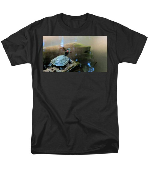 Turtle On Rock Men's T-Shirt  (Regular Fit) by Mark Barclay