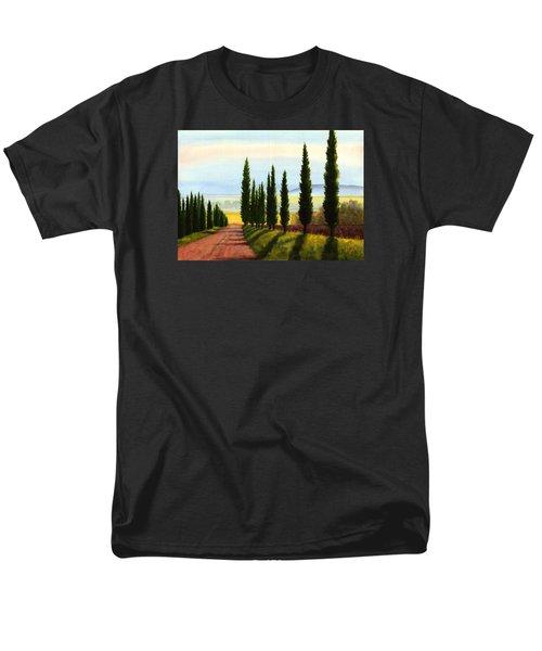Tuscany Cypress Trees Men's T-Shirt  (Regular Fit)