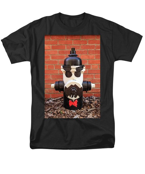Men's T-Shirt  (Regular Fit) featuring the photograph Tuxedo Hydrant by James Eddy