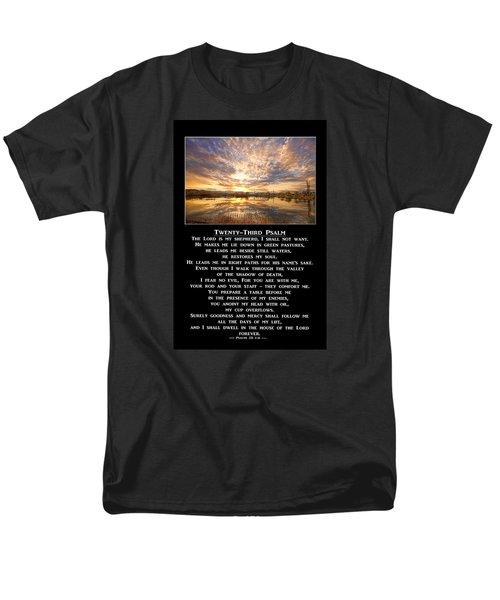 Twenty-third Psalm Prayer Men's T-Shirt  (Regular Fit)