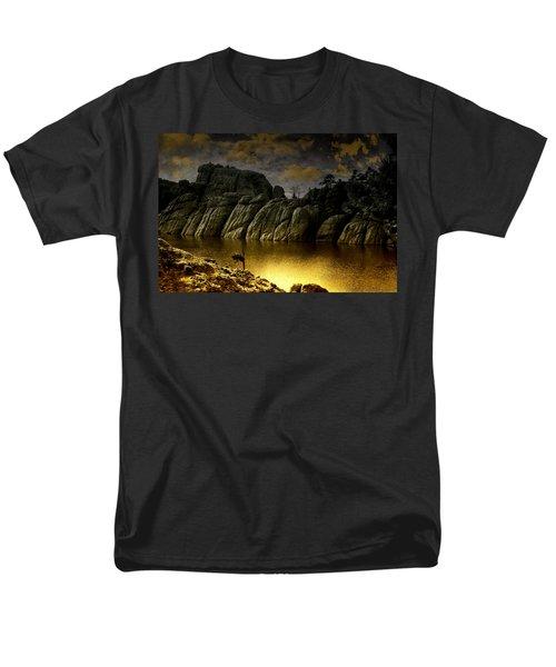 Twilight At The Lake Men's T-Shirt  (Regular Fit) by Ellen Heaverlo