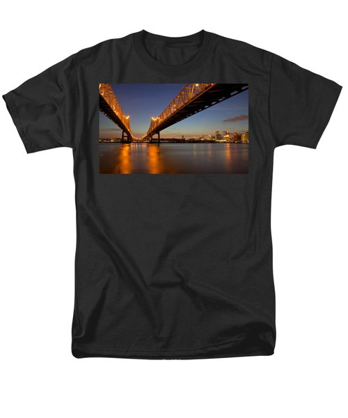 Men's T-Shirt  (Regular Fit) featuring the photograph Twin Bridges by Evgeny Vasenev