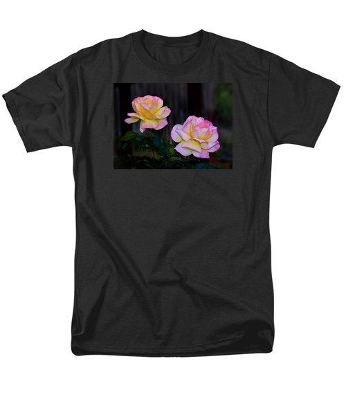 Twin Roses Men's T-Shirt  (Regular Fit) by Josephine Buschman